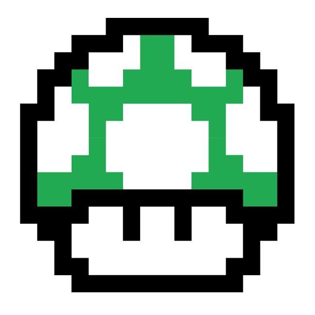Mario Mushroom Tattoo Stencil Mario Tattoo Pixel Tattoo Super