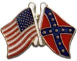 (Limited Supply) Click Image Above: American And Rebel Flags Lapel Pin