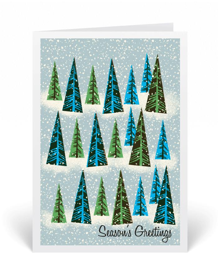 Mid-Century Modern Christmas Card, 1950\'s Christmas greeting cards ...