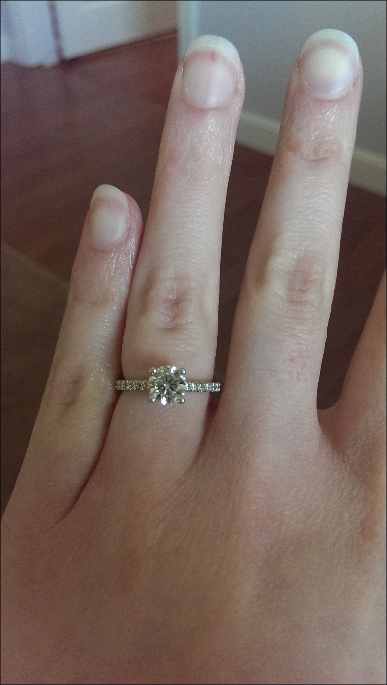 Platinum Engagement Ring With Rose Gold Wedding Band