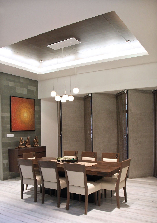 The-Wall-House-08-1058x1500 | False ceiling, False ceiling ... on Dining Table Ceiling Design  id=24719