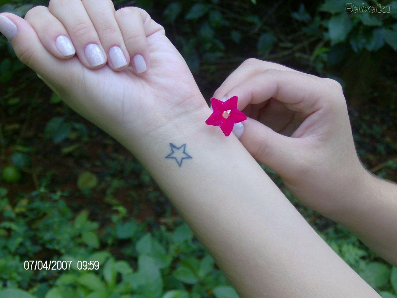 Star wrist tattoo Star tattoo on wrist, Star tattoos