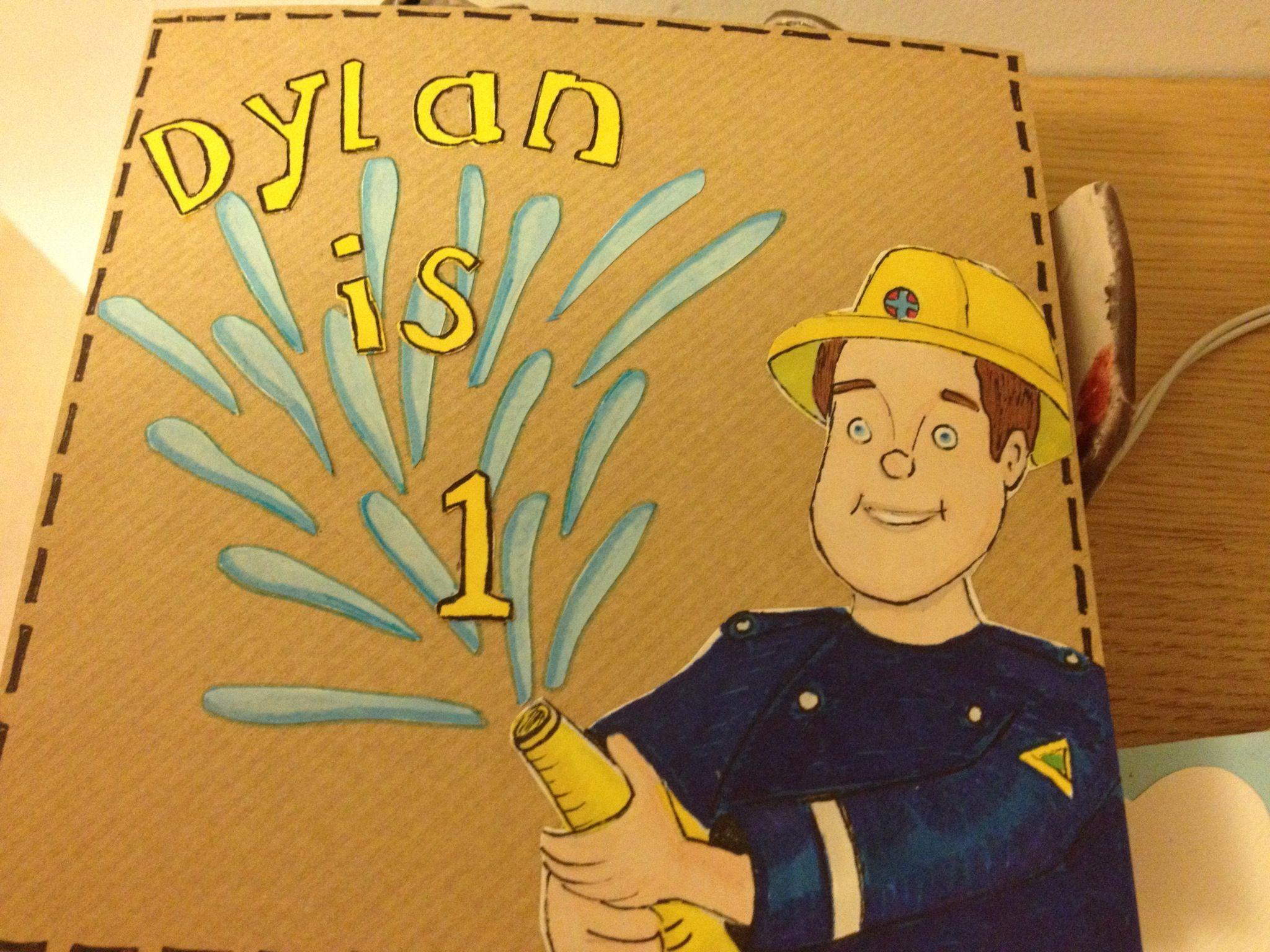 Fireman Sam 1st Birthday Card 1st Birthday Cards Fireman Sam Cards