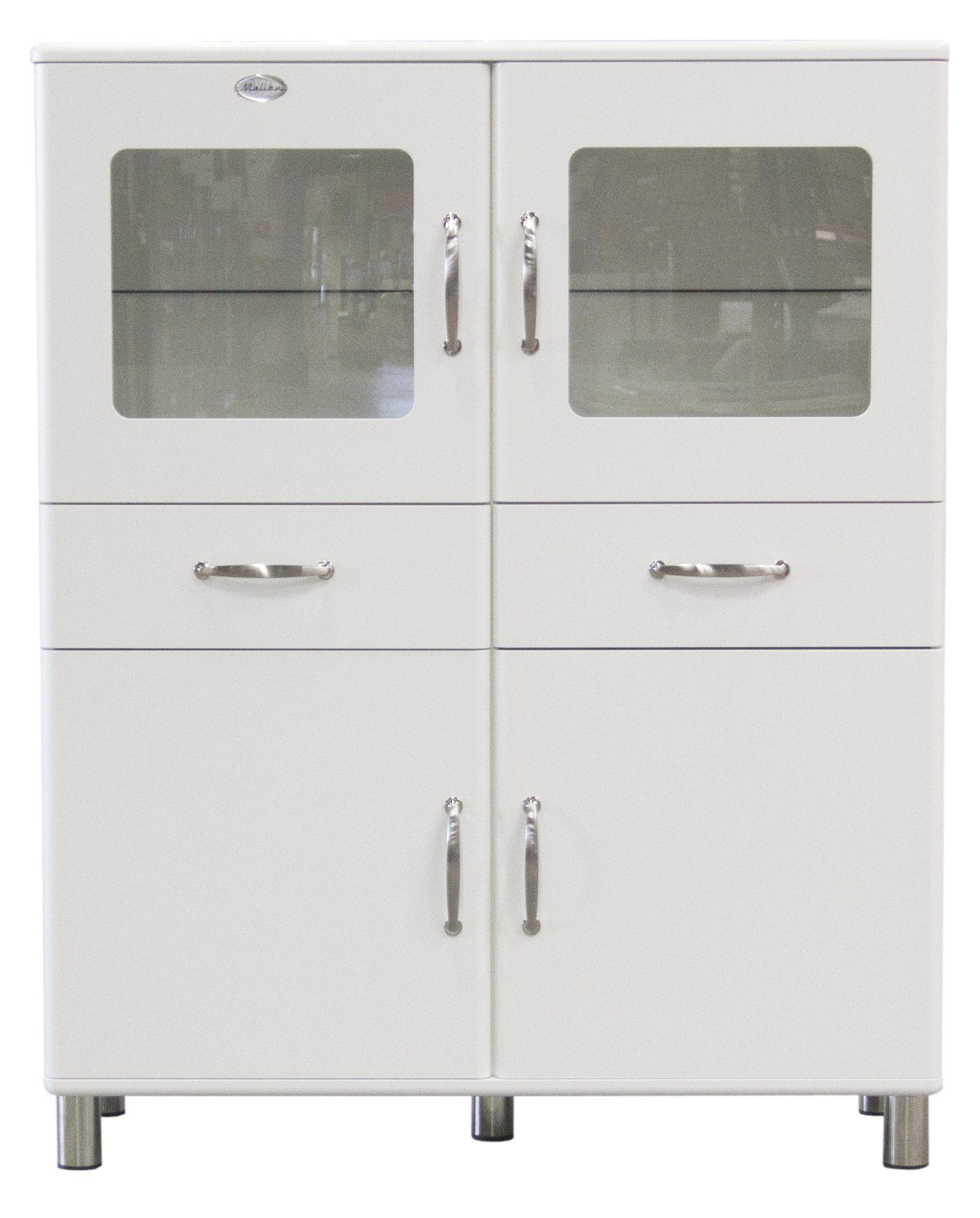 Tenzo 5237-005 Malibu - Designer Doppelvitrine / Schrank 150 x 120 x ...