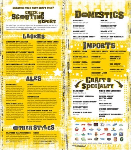 buffalo wild wings menu - Google Search Menu Styles Pinterest - beer menu