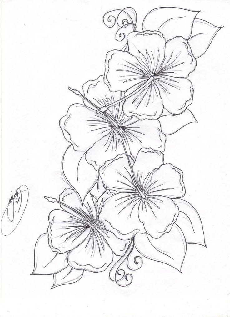 hawaiian flower tattoos hibiscus flower tattoos hibiscus flowers ...