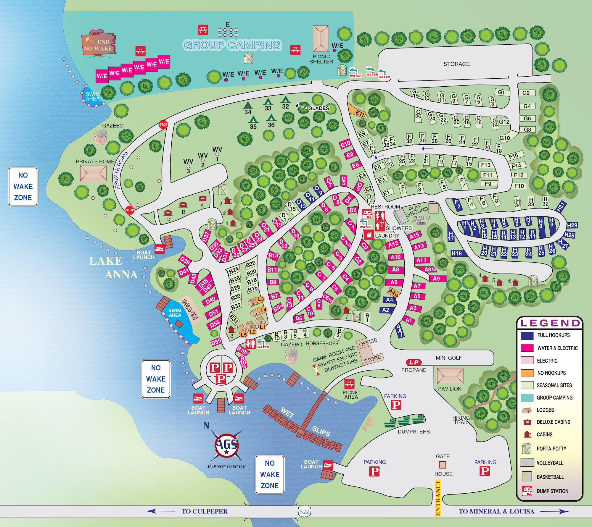 Christopher Run Campground Campground Maps Amp Directions Lake Anna Virginia Camping Arts N