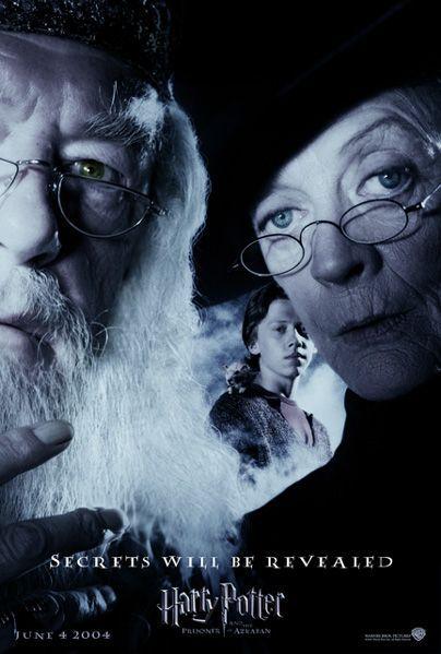 Harry Potter Et Le Prisonnier D Azkaban Film Harry Potter And The Prisoner Of Azkaban Secrets Will Be Revealed Dumbledore Mcgonag Harry Potter Movie Posters Harry Potter Movies Harry Potter Universal