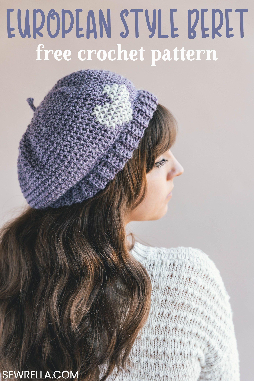 Crochet Parisienne Beret | Tejidos | Pinterest | Stricken, Häkeln ...