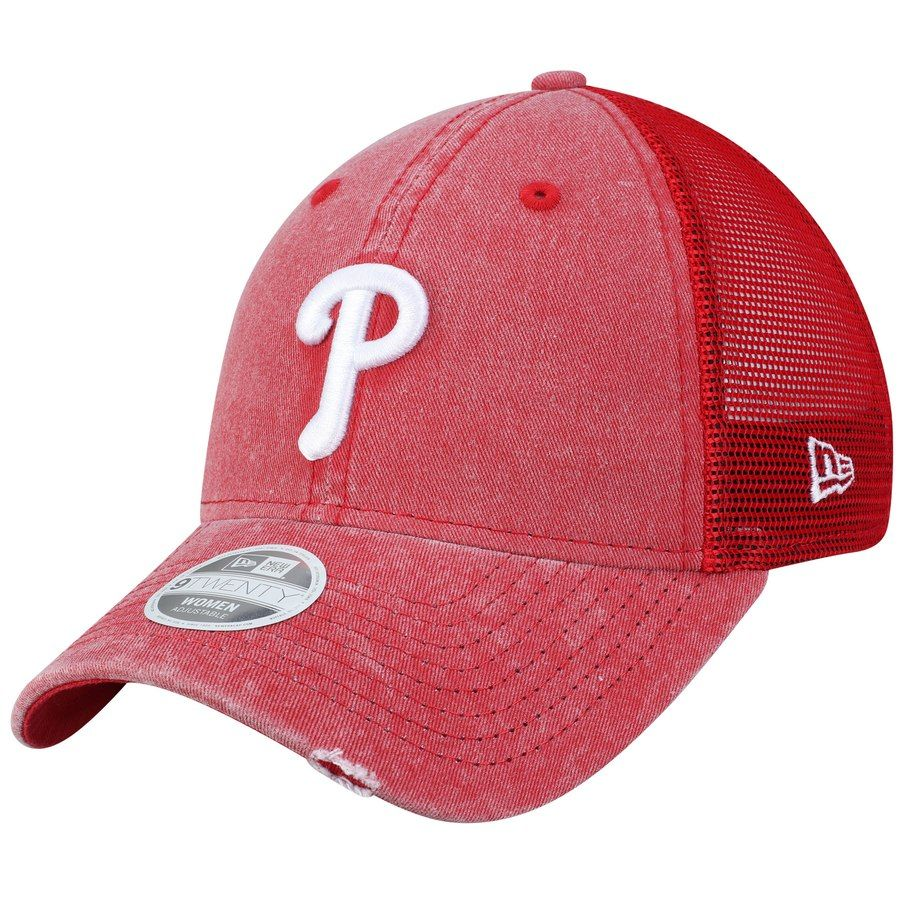 buy popular a63b9 7561a Women s Philadelphia Phillies New Era Red Tonal Washed Trucker 9TWENTY  Adjustable Hat, Your Price   23.99