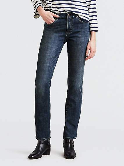 Essentials Womens Straight-Fit Jean