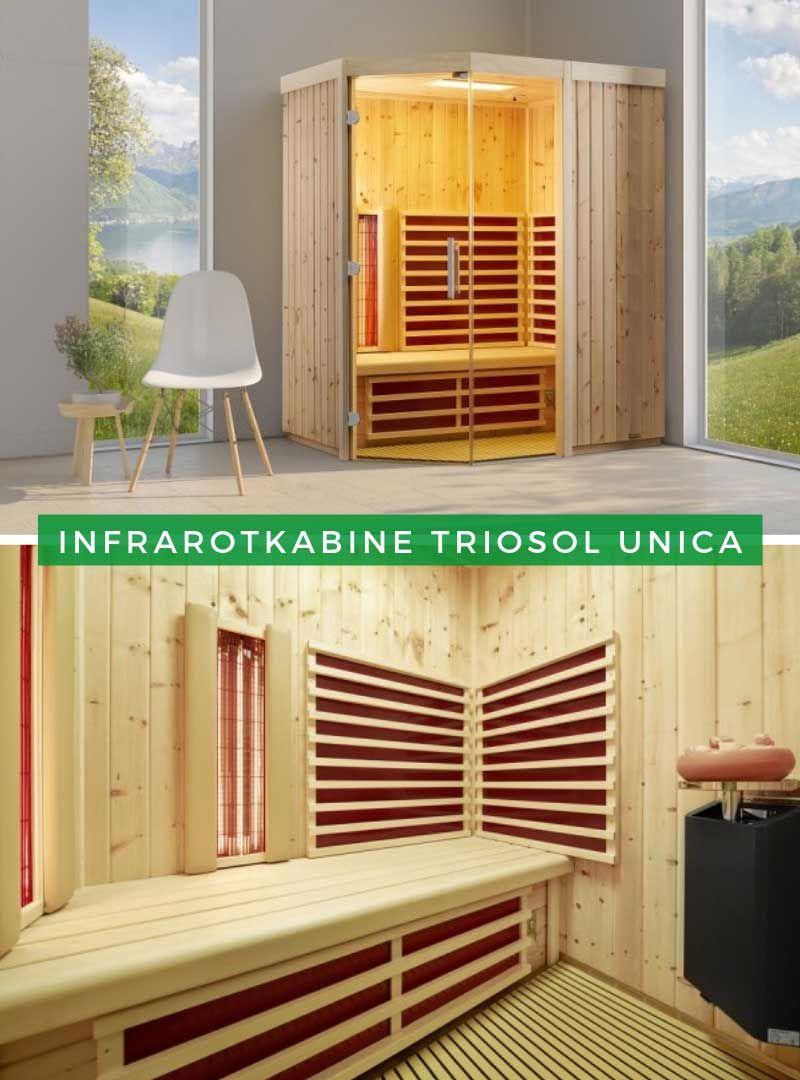Infrarotkabinen mit Liege Die Infrarotkabine TrioSol