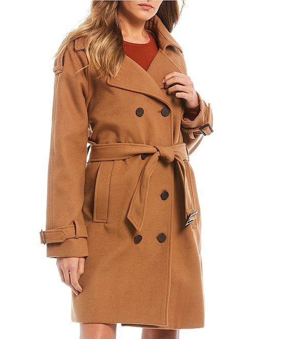 GB Notch Collar Belted Trench Coat