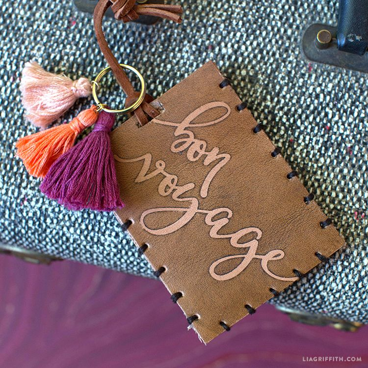 How To Make Your Own Luggage Tags  Leather Luggage Tags Tag