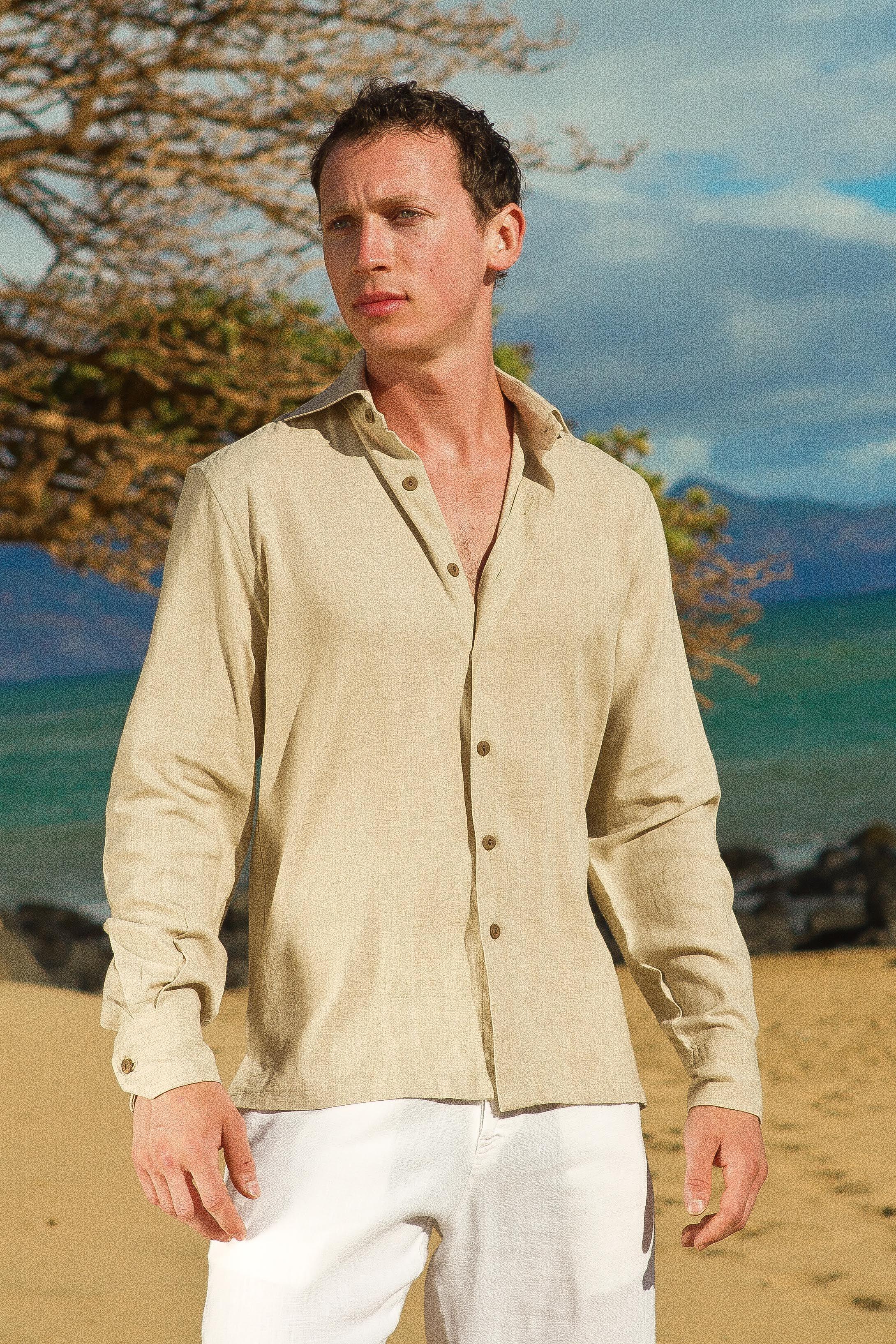 Linen Amalfi Shirt Ls Italian Dress Shirts Italian Shirts Linen Shirt Men [ 3270 x 2180 Pixel ]
