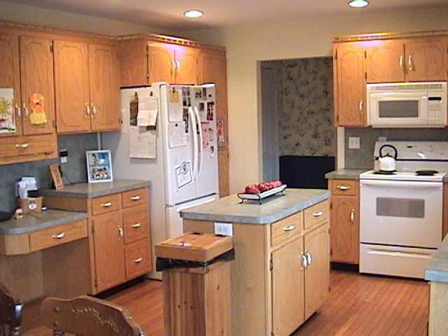 Light Cabinets White Appliances House Design Kitchen Painting