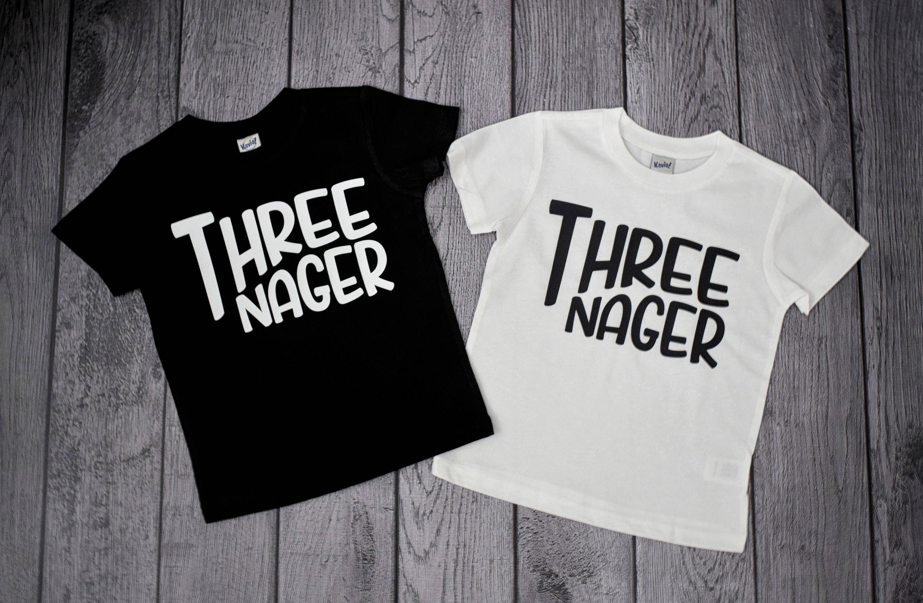 Boys 3rd Birthday Shirt 3 Year Old Boy Threenager