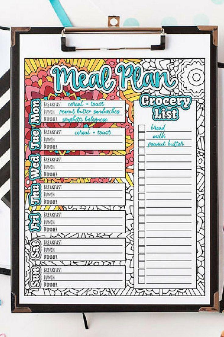 Way too cute! Meal Planner Printable Weekly meal plan
