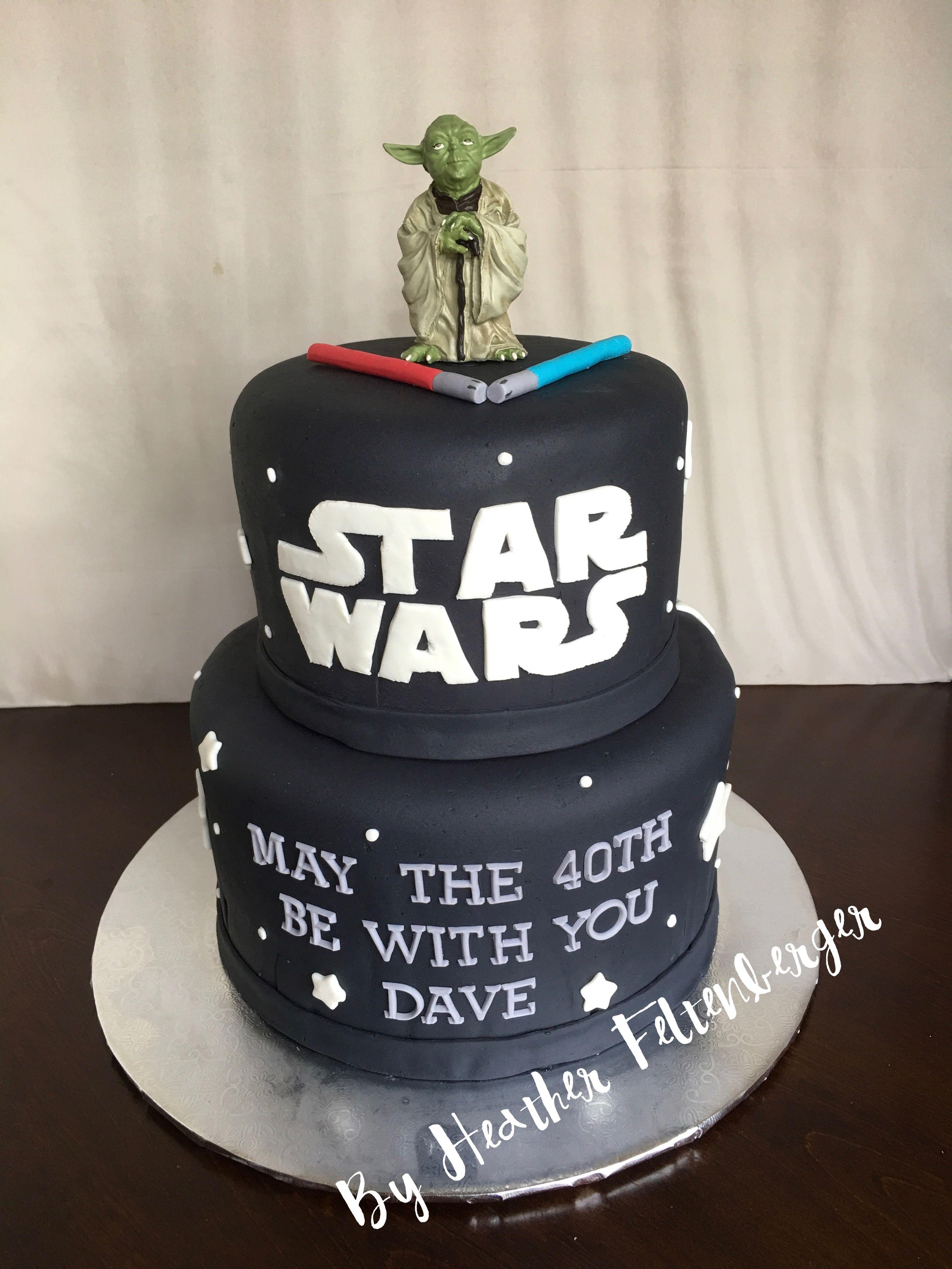 Star Wars 2 Tier 40th Birthday Cake