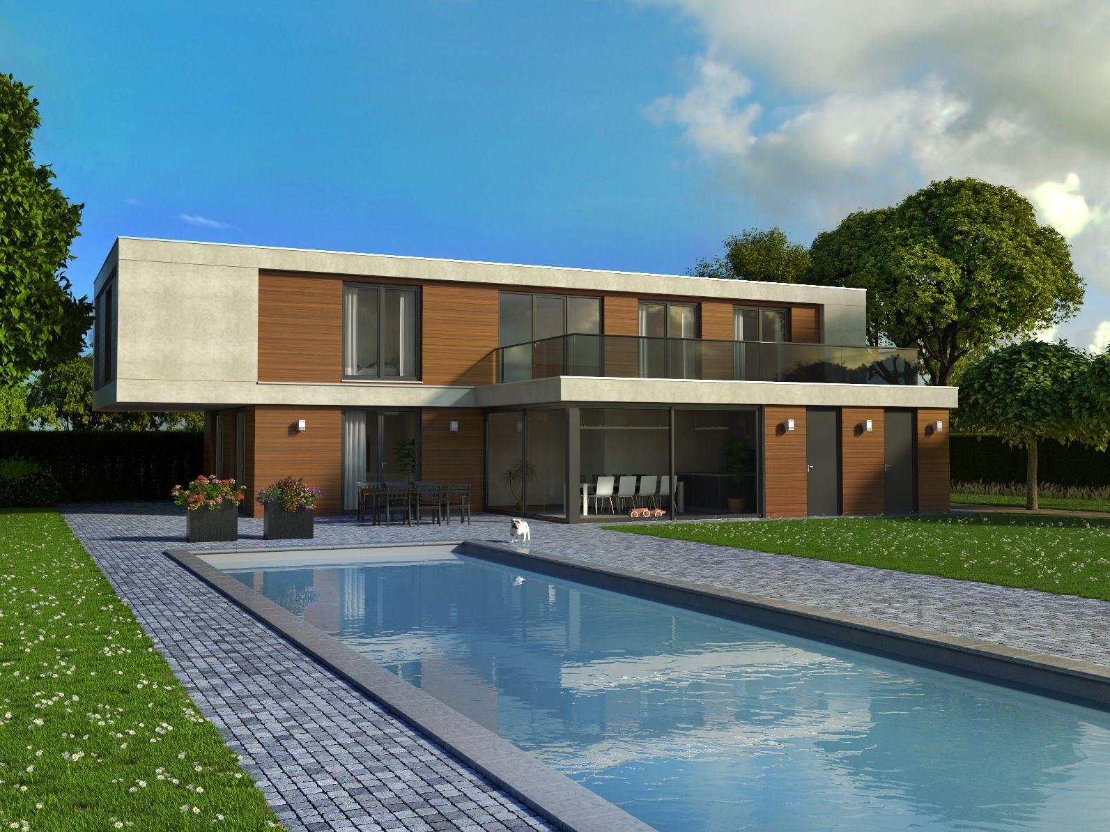 Moderne woning met een stoer karakter strakke vormgeving for Moderne villa architectuur
