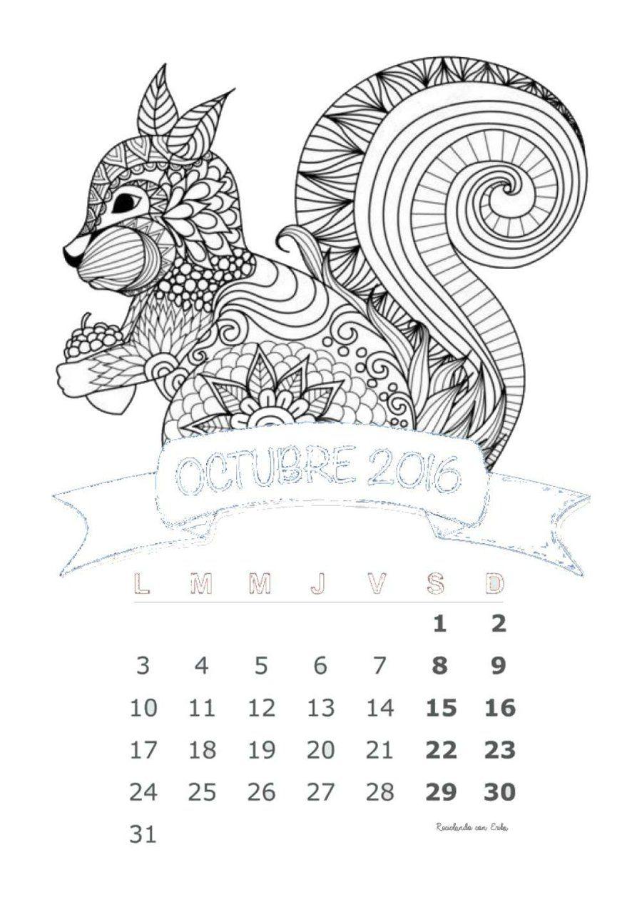 3 calendarios imprimibles y gratuitos del mes de octubre para ...