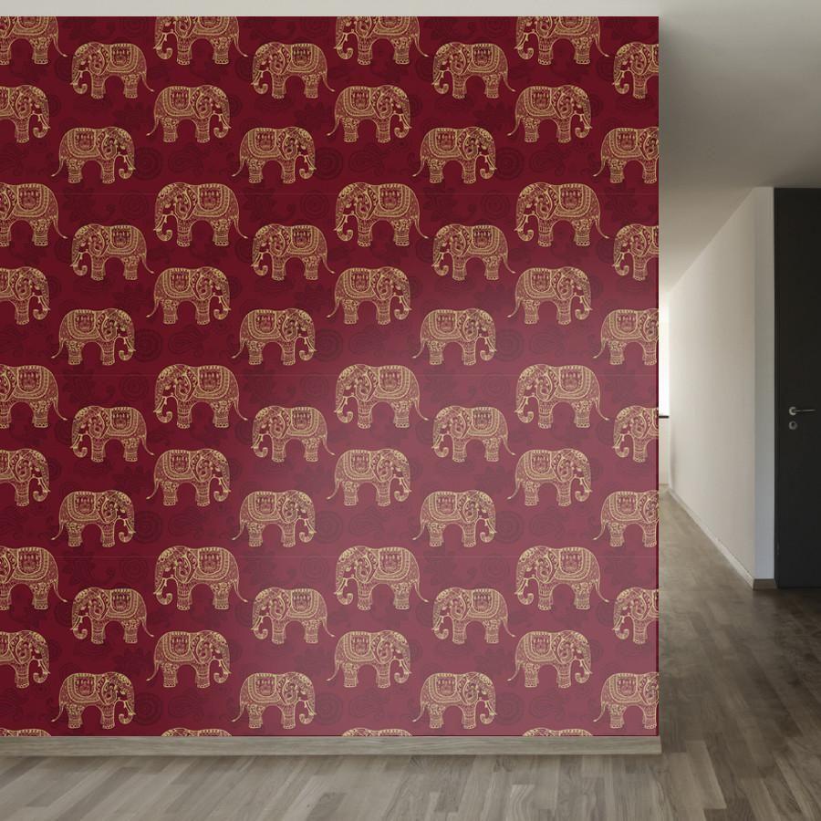 Paisley Elephants Wallpaper Temporary Wallpaper Diy Paisley Wallpaper Removable Wallpaper