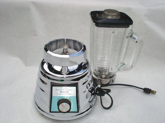 kenmore blender. vintage chrome and glass sears kenmore 500 3 speed beehive blender on etsy, $65.00