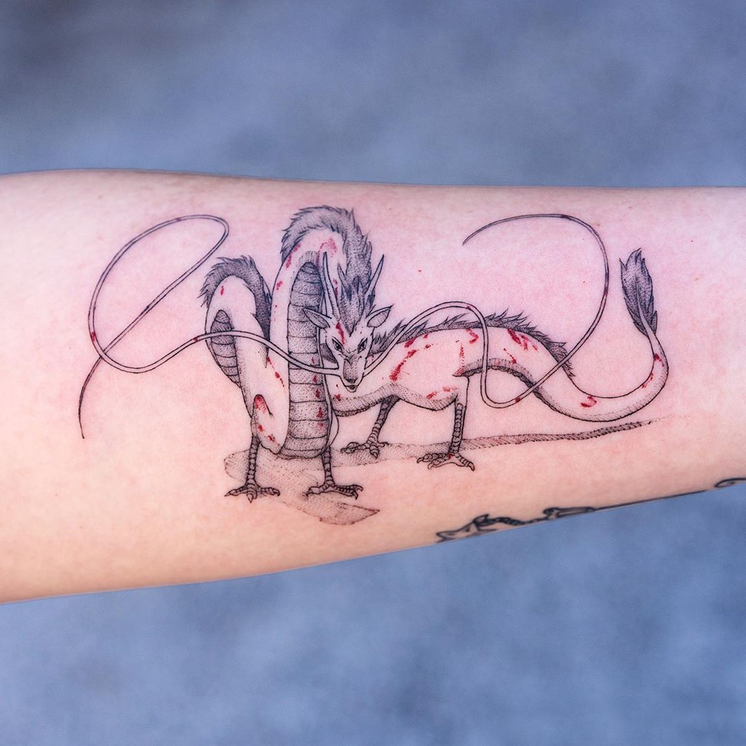 Haku Spirited Away Tattoo By Oozy Spirited Away Tattoo Tattoos Tattoo Artists