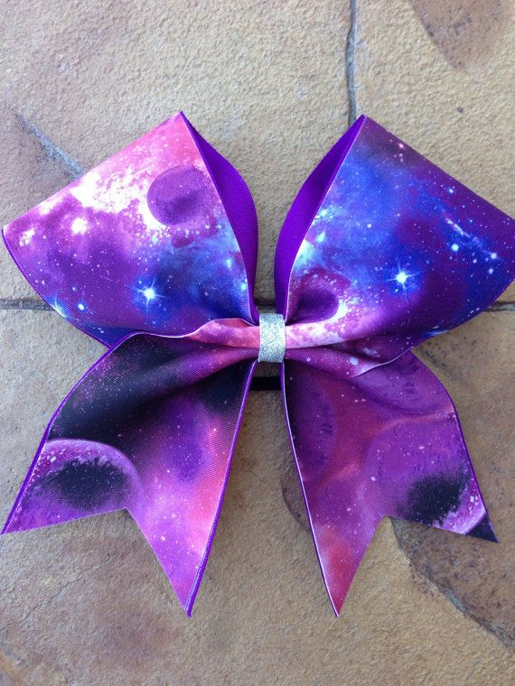 Galaxy Cheer Bow On Etsy 1200 All My Girls With Bows In Their Hair