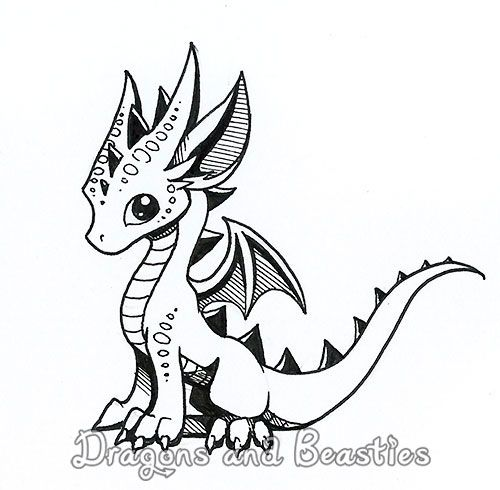 Inktober: Little Dragon by DragonsAndBeasties on DeviantArt | Dragon ...