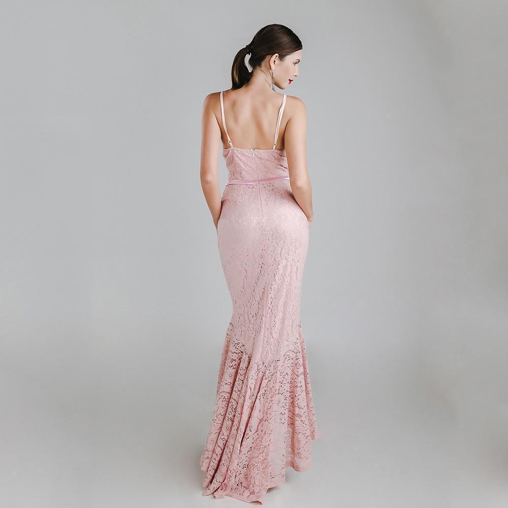 3f076f73 Sexy V Halter Sleeveless Split Maxi Dress For Women | Cha cha, Lace ...