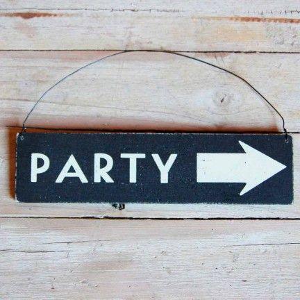 "Letrero ""Party"". Mr. Wonderfull 8.70€"