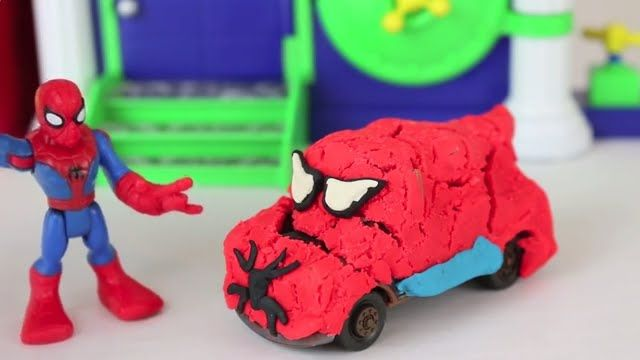 Play Doh Superhero Cars Headquarters Marvel Spiderman Lightning McQueen . & Play Doh Superhero Cars Headquarters Marvel Spiderman Lightning ...