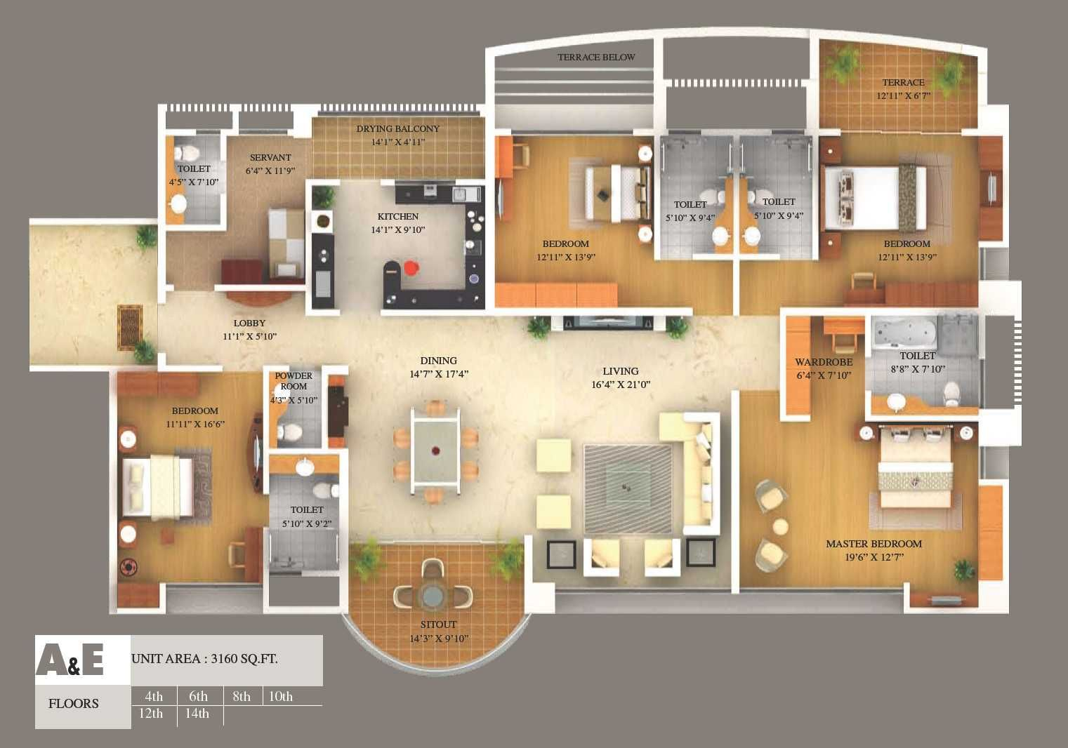 Simple House Plan With 5 Bedrooms 3d Images Home Design Maker Extraordinary More Bedroom Floor Plans Floor Plan Design Online Home Design Home Design Software