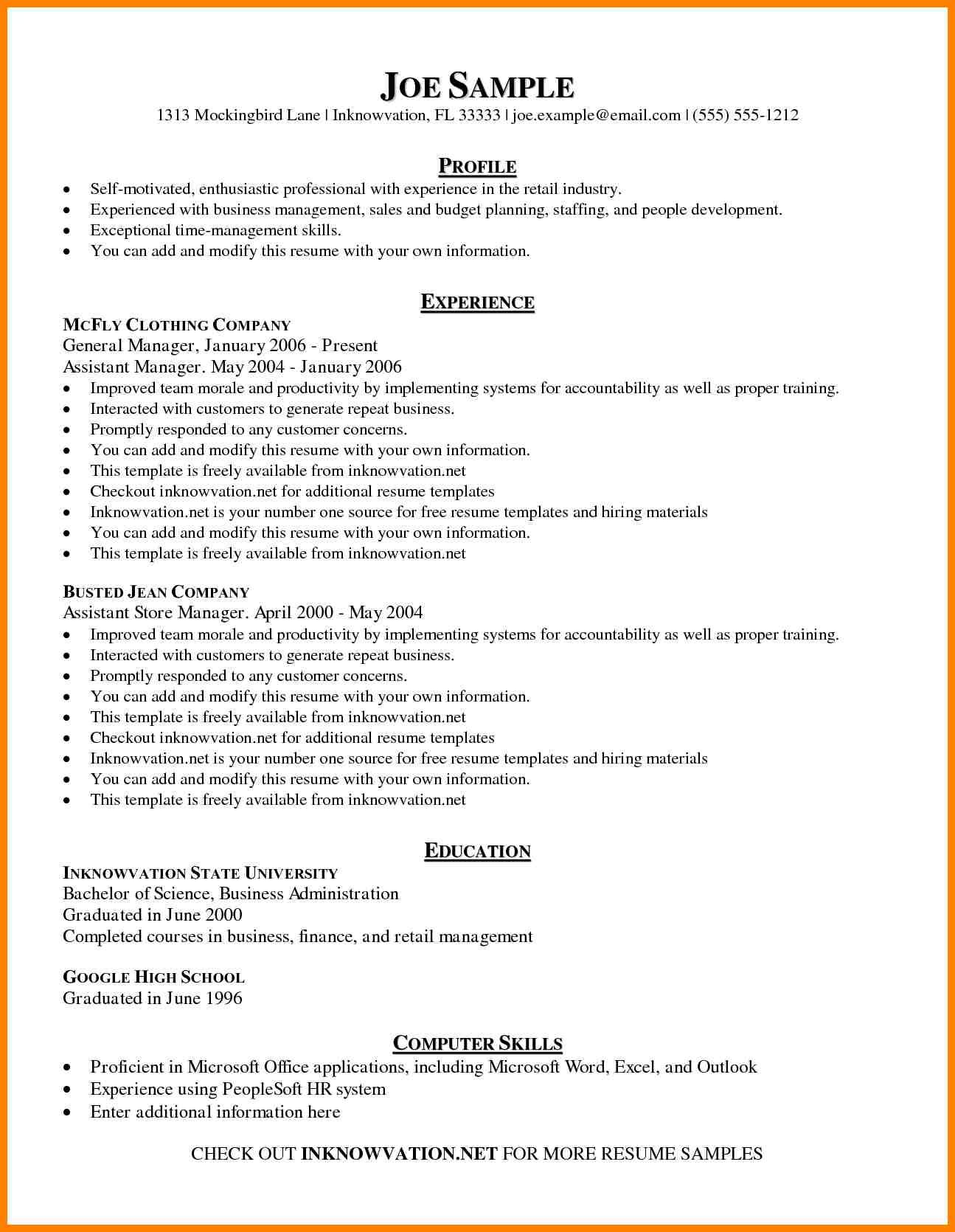 Management Skills Resume Sample Management Skills Resume Sample 11 Amazing Management Resume Examples Liv Basic Resume Examples Resume Examples Basic Resume