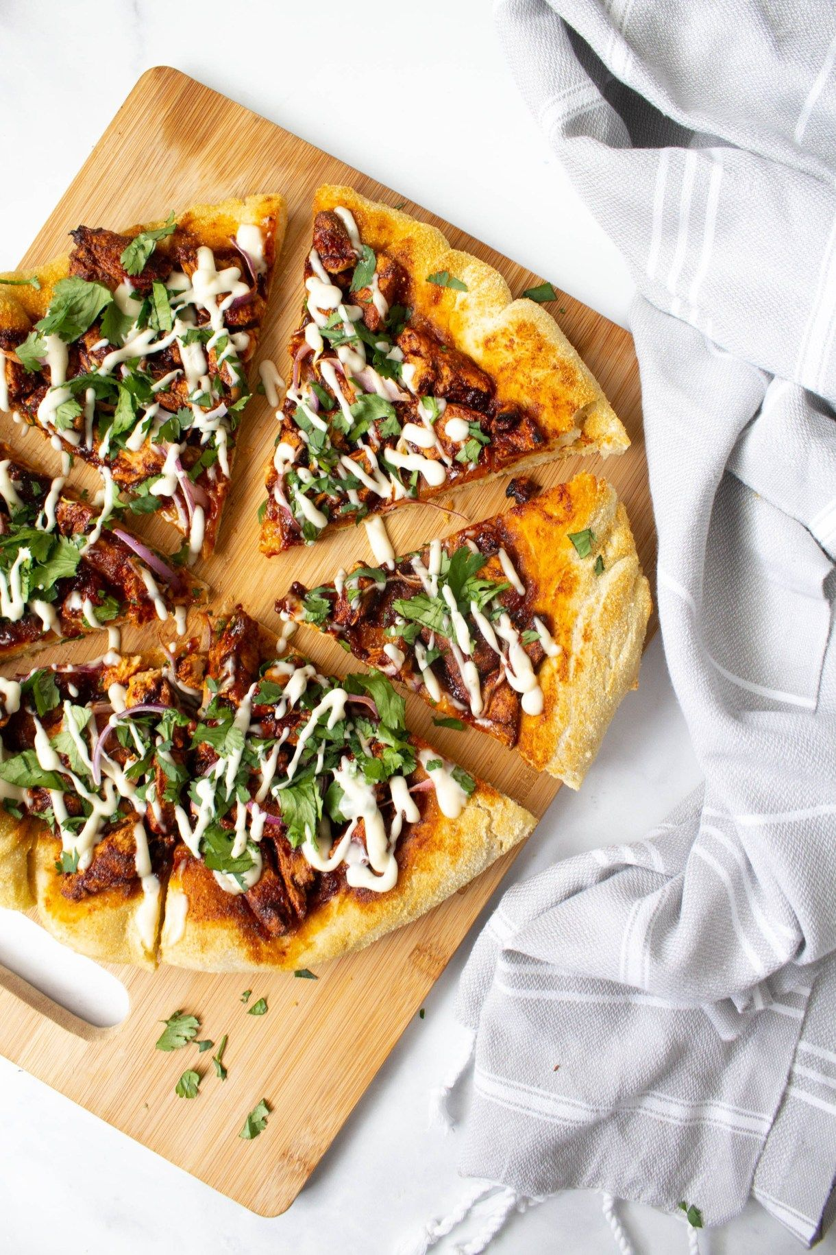 Vegan Bbq Chicken Pizza
