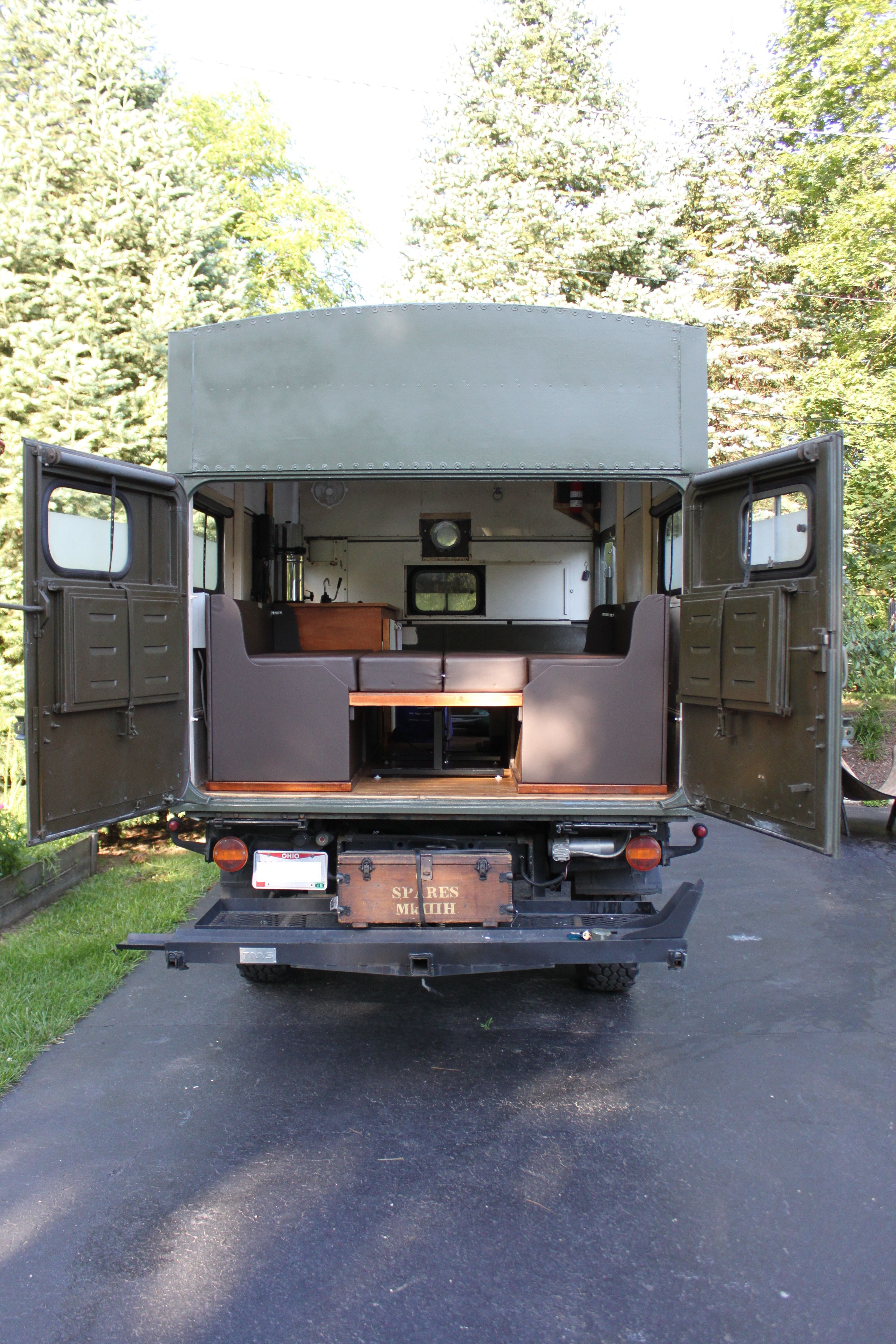 1965 Unimog 404 Camper Interior With Table Down Unimog Small