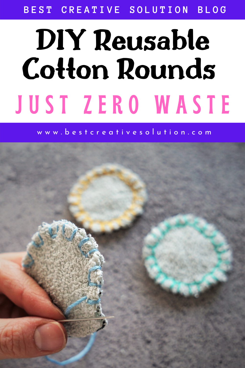 how you can make your own reusable cotton pads? in 2020