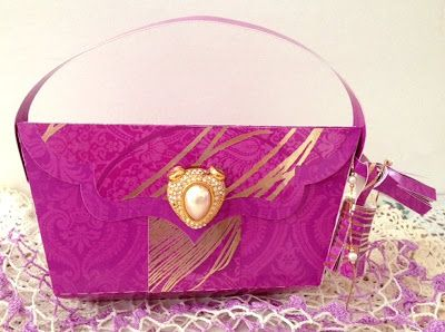 288741af1150 Misty s clutch bag from LUXURY HANDBAGS SVG KIT is simply gorgeous!  Beautiful color with a touch of gold!