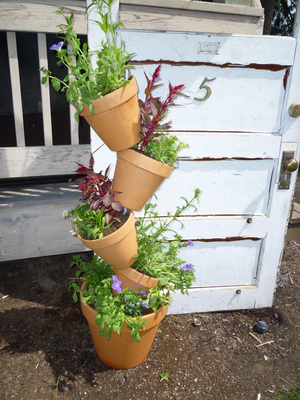 Tipsy pots tutorial for herb garden!