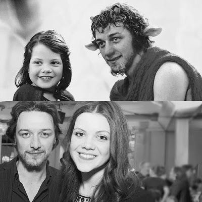 Georgie Henley and James McAvoy | Narnia, Chronicles of ...