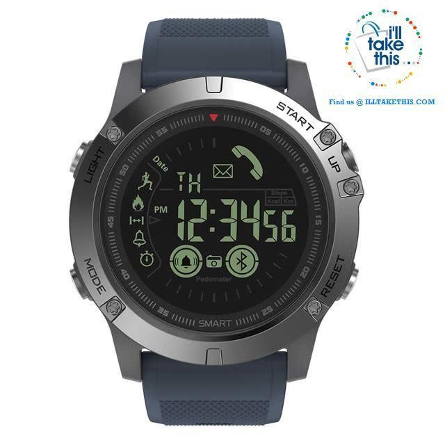 Men's Rugged Smartwatch All-Terrain Sports Watch for IOS and Android #sportswatches ⌚ Blue/Slate Gray Men's Sports Smartwatch - Water-resistant, pedometers, message, reminder, Bluetooth for ios and Android phone   #smartwatch #watch #watches #fishingwatch #huntingwatch #campingwatch #sportswatch #sportwatches #menswatch #menswatches #ioswatch #androidwatch sportswatch #coolwatches #mensfashion #watchcollection #wristwatch #fossilwatch #digitalzwatch #menssportwatches #illtakethis #sportswatches