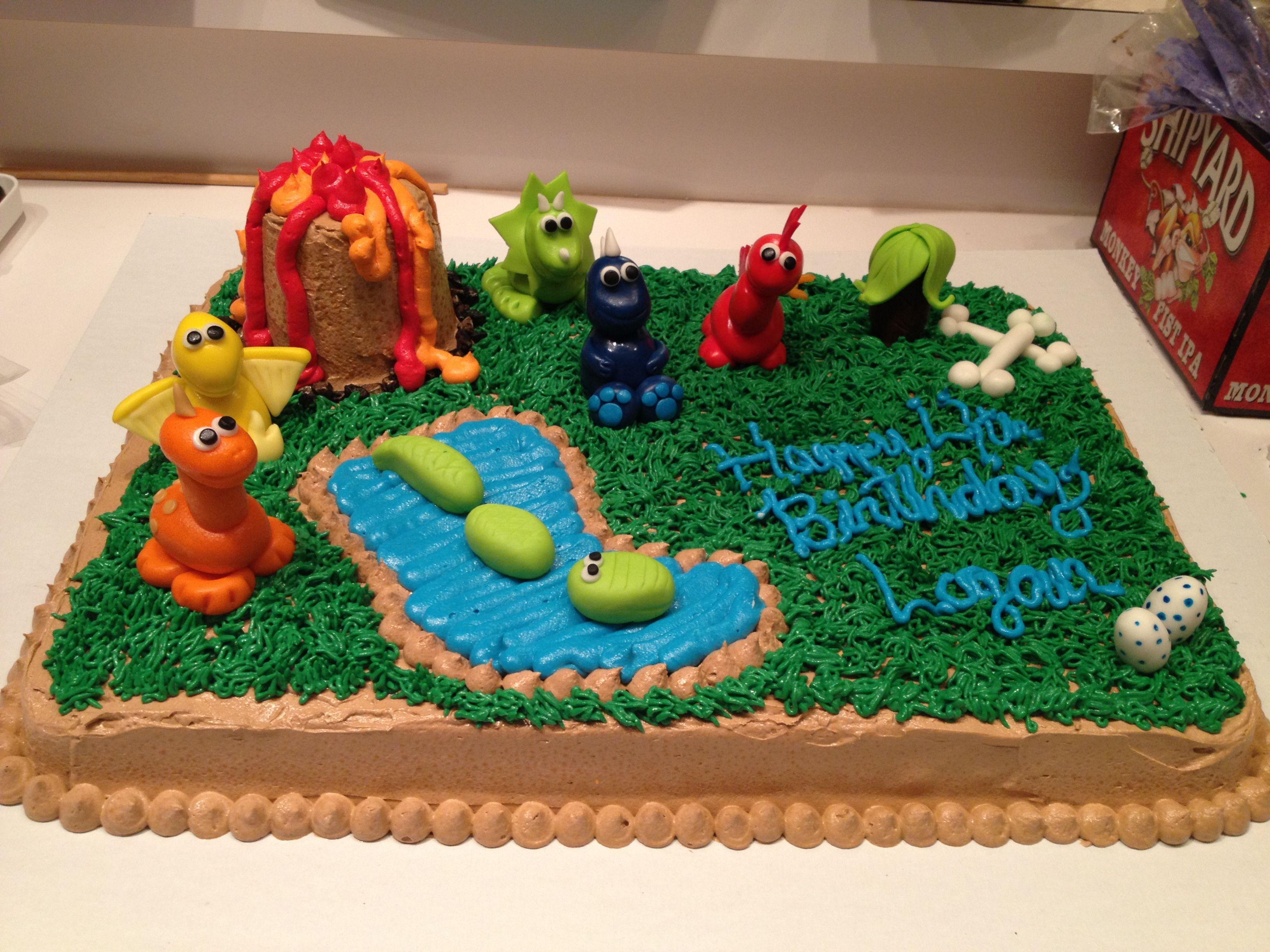 Dinosaur Sheet Cake My Creations Pinterest