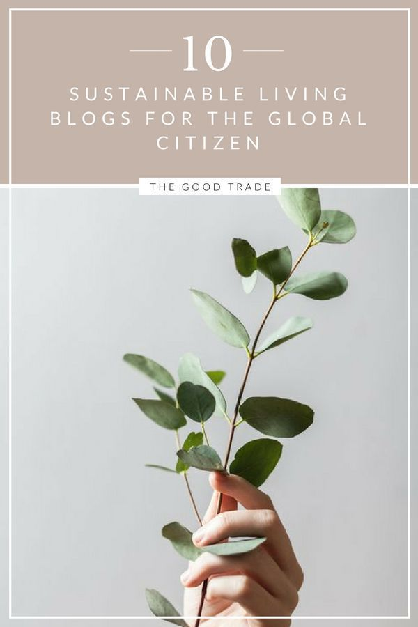 10 Sustainable Living Blogs For The Global Citizen // The Good Trade #sustainability #sustainableliving #ecoliving #ecofashion #sustainable #greenliving #blogs #bloggers #readinglist