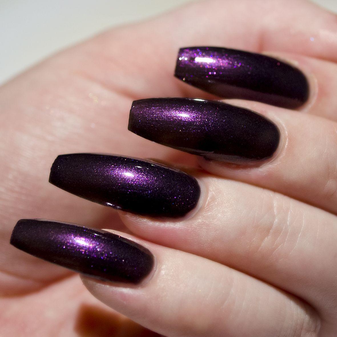 After Dark Summer Collection Nail Polish Black Purple Purple Acrylic Nails Black And Purple Nails Dark Purple Nails