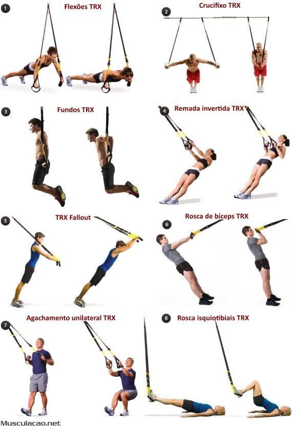 Os 17 melhores exercícios com sistema TRX