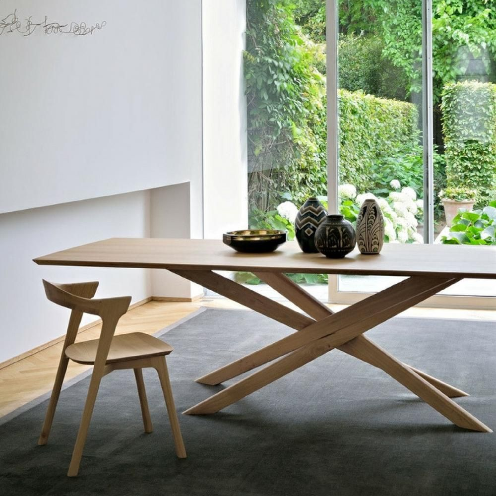 Ethnicraft Oak Mikado Dining Table Rectangular Scandinavian