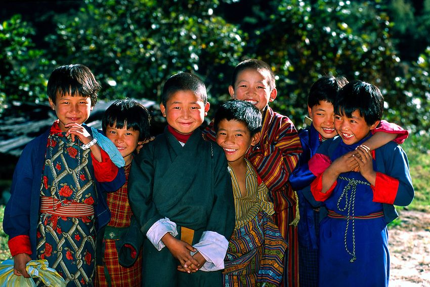 Group Of Bhutanese Children Lumitsawa Punakha Valley Bhutan Bhutan Couple Photos Photo