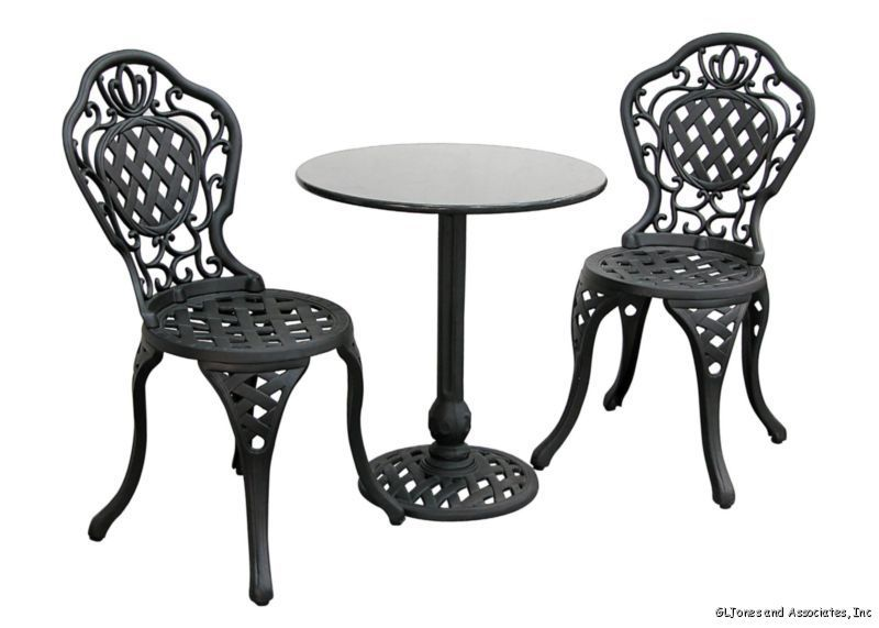 Bistro Iron Table Chairs Outdoor Patio Bistro Table