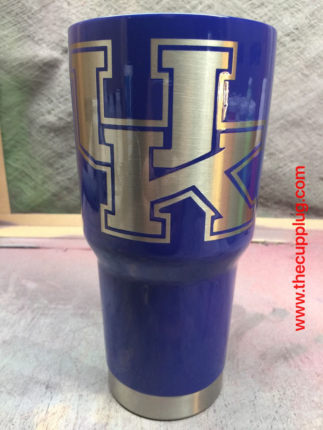 A personal favorite from my Etsy shop https://www.etsy.com/listing/514237033/custom-powder-coated-cups-university-of